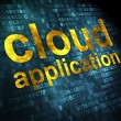 Cloud technology concept: Cloud Application on digital backgroun — ストック写真