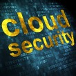 Cloud computing concept: Cloud Security on digital background — Stock Photo