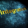 Stock Photo: Business concept: Integration on digital background