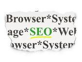 Web 设计概念: Seo 纸张背景上 — 图库照片