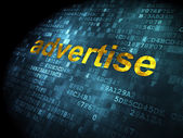 Advertising concept: Advertise on digital background — Stock Photo