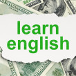 Education concept: Learn English on Money background — Stock Photo