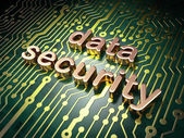 Privacy concept: Data Security on circuit board background — Stock Photo