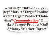 Advertising concept: Communication on Paper background — Foto de Stock
