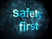 Privacy concept: Safety First on digital background — Stock Photo