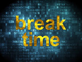Time concept: Break Time on digital background — Stock Photo