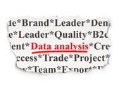 Information concept: Data Analysis on Paper background — Foto de Stock