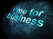 Timeline concept: Time for Business on digital background — Stock Photo