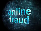 Protection concept: Online Fraud on digital background — Foto de Stock