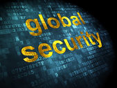 Protection concept: Global Security on digital background — Zdjęcie stockowe