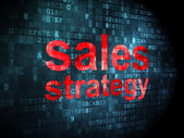 Marketing concept: Sales Strategy on digital background — Foto de Stock