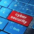 Privacy concept: Cyber Security on computer keyboard background — Stock Photo