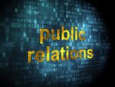 Marketing concept: Public Relations on digital background — Foto de Stock