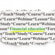 Stock Photo: Education concept: Financial Education on Paper background