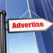 Advertising concept: Advertise on Building background — Foto de Stock