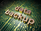 Information concept: Data Backup on circuit board background — Stock Photo