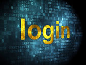 Safety concept: Login on digital background — Stock Photo