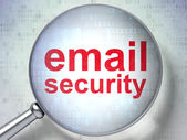 Safety concept: Email Security with optical glass — Stock Photo
