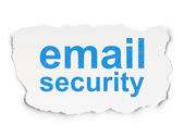 Safety concept: Email Security on Paper background — Stok fotoğraf