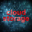 Networking concept: Cloud Storage on digital background — Stock Photo #29174241