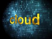 Concepto de tecnología Cloud: nube en el fondo digital — Foto de Stock