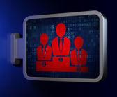 Marketing concept: Business Team on billboard background — ストック写真