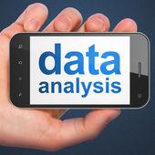 Information concept: Data Analysis on smartphone — Stock Photo