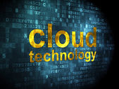Networking concept: Cloud Technology on digital background — Stock Photo
