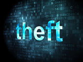 Security concept: Theft on digital background — Stock Photo