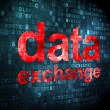 Information concept: Data Exchange on digital background — Stock Photo