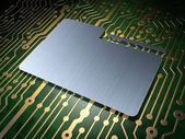Business concept: Folder on circuit board background — Stock Photo