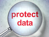 Safety concept: Protect Data with optical glass — Stock Photo