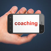 Education concept: Coaching on smartphone — Zdjęcie stockowe