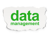 Information concept: Data Management on Paper background — Stok fotoğraf