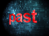Time concept: Past on digital background — Stock Photo