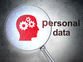 Information concept: Head With Gears and Personal Data with opti — Stock Photo