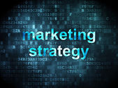 Advertising concept: Marketing Strategy on digital background — Stockfoto