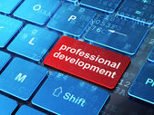 Education concept: Professional Development on computer keyboard — Stock Photo