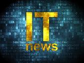 News concept: IT News on digital background — Stock fotografie