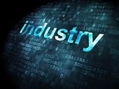 Finance concept: Industry on digital background — Stock Photo