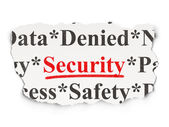 Safety concept: Security on Paper background — Stock Photo