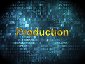 Finance concept: Production on digital background — Stockfoto