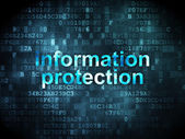 Privacy concept: Information Protection on digital background — Stock Photo
