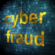 Safety concept: Cyber Fraud on digital background — Foto Stock