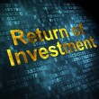 Stock Photo: Business concept: Return of Investment on digital background