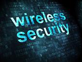 Säkerhetskoncept: trådlös säkerhet på digital bakgrund — Stockfoto