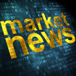 News concept: Market News on digital background — Foto de Stock