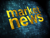 News concept: Market News on digital background — Stock Photo