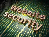 Protection concept: Website Security on circuit board background — Stock Photo