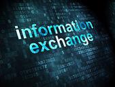 Концепция данных: обмен информацией о цифровой фон — Стоковое фото